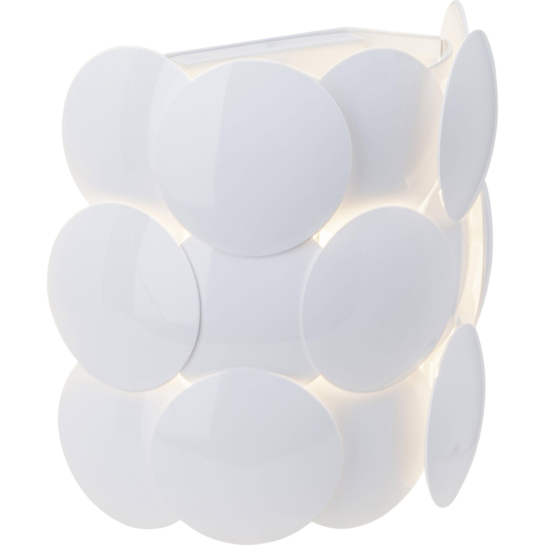 Applique Design Plastique Blanc Brilliant Patere 1 Lumiere S Applique Murale Parement Mural Et Lumiere De Lampe