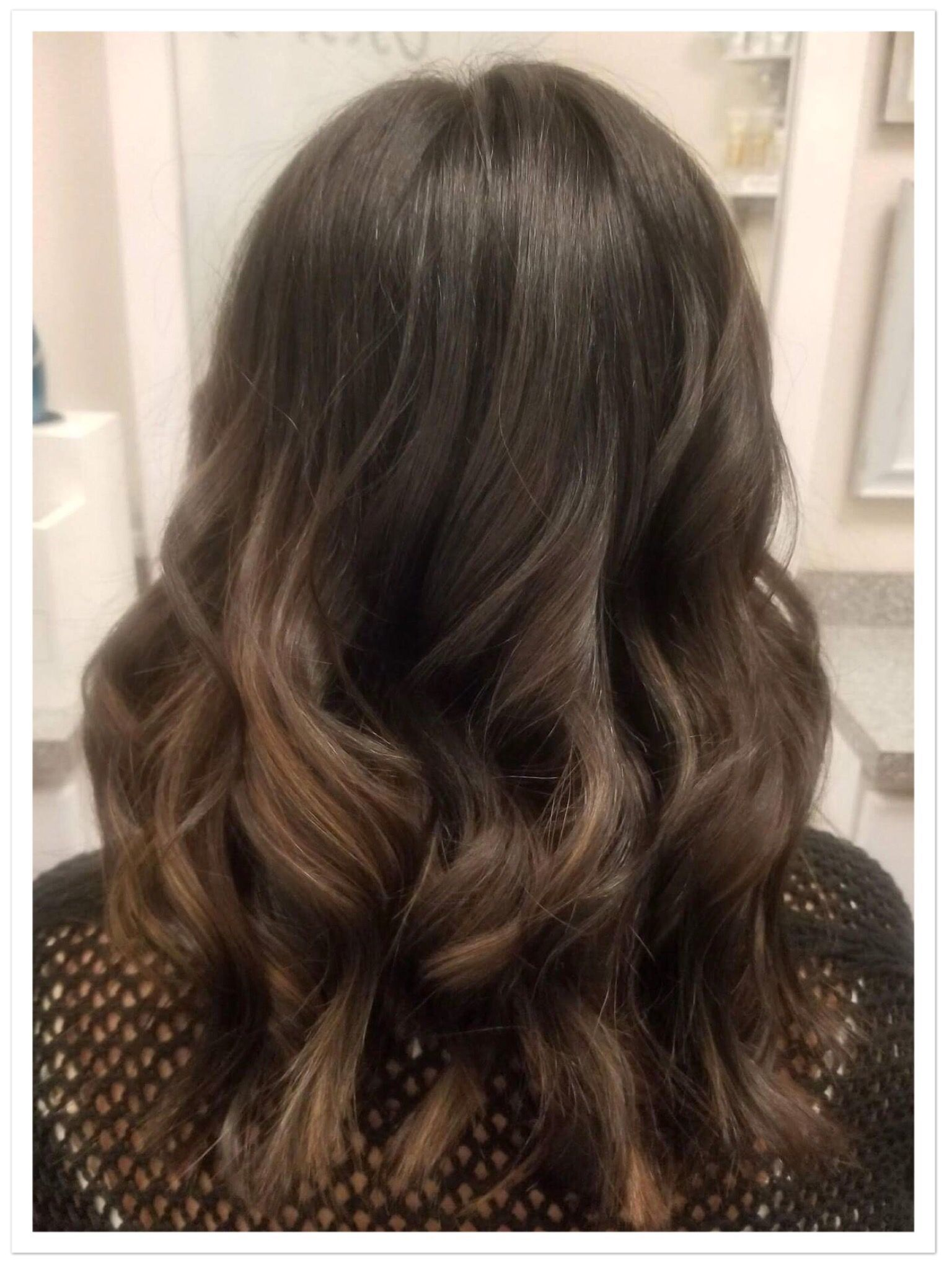 Rich Chocolate Hair Honey Balayage Highlights Lake Mary Florida