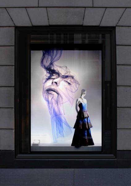 2020 的 NEW Window display 2011 fall 主题 |Curved Line Display Visual Merchandising