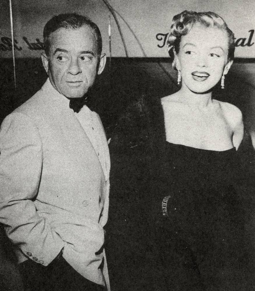 Marilyn and her agent Johnny Hyde 1950