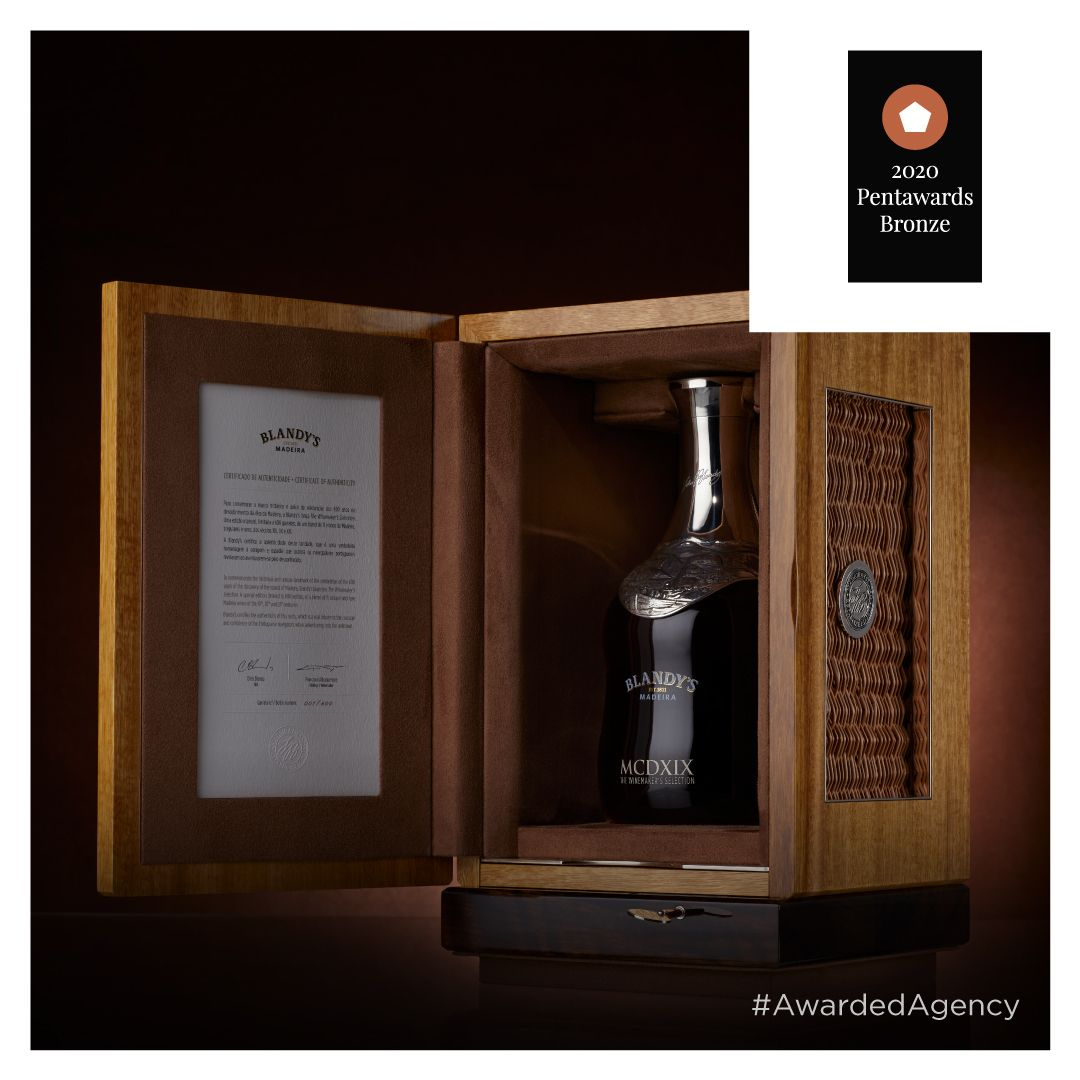 Blandy's – The Winemaker's Selection #StayOm #Omdesign #Design #Portugal #LeçadaPalmeira #Since1998 #AwardedAgency #DesignAwards #Packaging #WinePackaging #PackagingDesign #SpecialEdition #LuxuryDesign #LuxuryPackaging #600AnosMadeira #VinhoMadeira #MadeiraWine #Blandys #IVBAM #Awards #Pentawards #BronzeAward #BronzeWinner