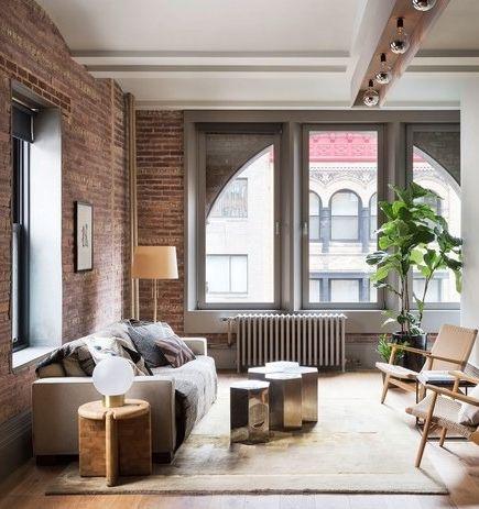 A Petite New York City Loft That Packs A Powerful Style Punch Living Room Loft Loft Design Loft Living