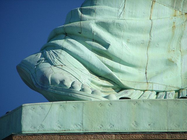 Image result for The Statue of Liberty wears a size 879 sandal.