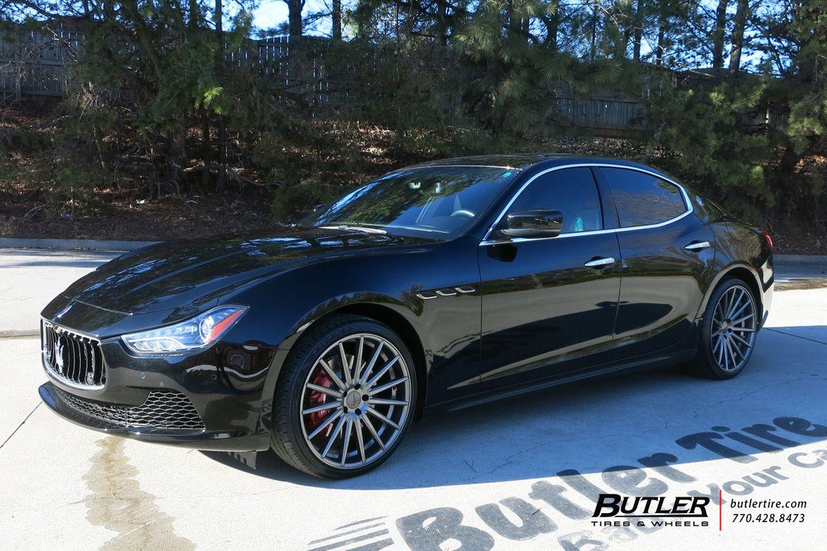 Maserati Ghibli With 21in Vossen Vfs2 Wheels Maserati Ghibli Maserati Vossen
