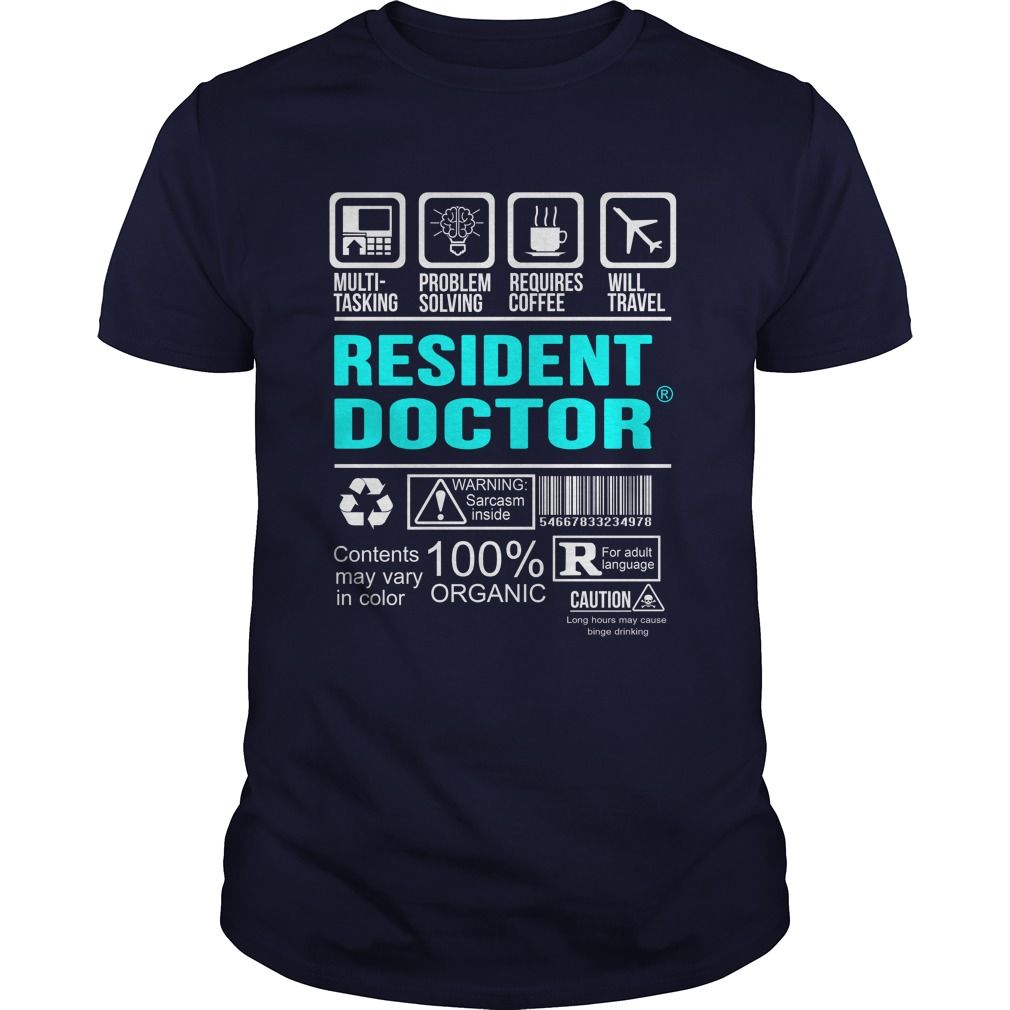 RESIDENT DOCTOR T-Shirts, Hoodies. CHECK PRICE ==► Funny Tee Shirts