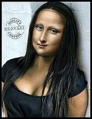 CHE MONA... LISA! (The PIX-JOCKEY (visual fantasist)) Tags: woman art beauty photoshop painting joke monalisa fake gioconda vip photomontage leonardo brunette leonardodavinci fotomontaggi ritocco robertorizzato pixjockey