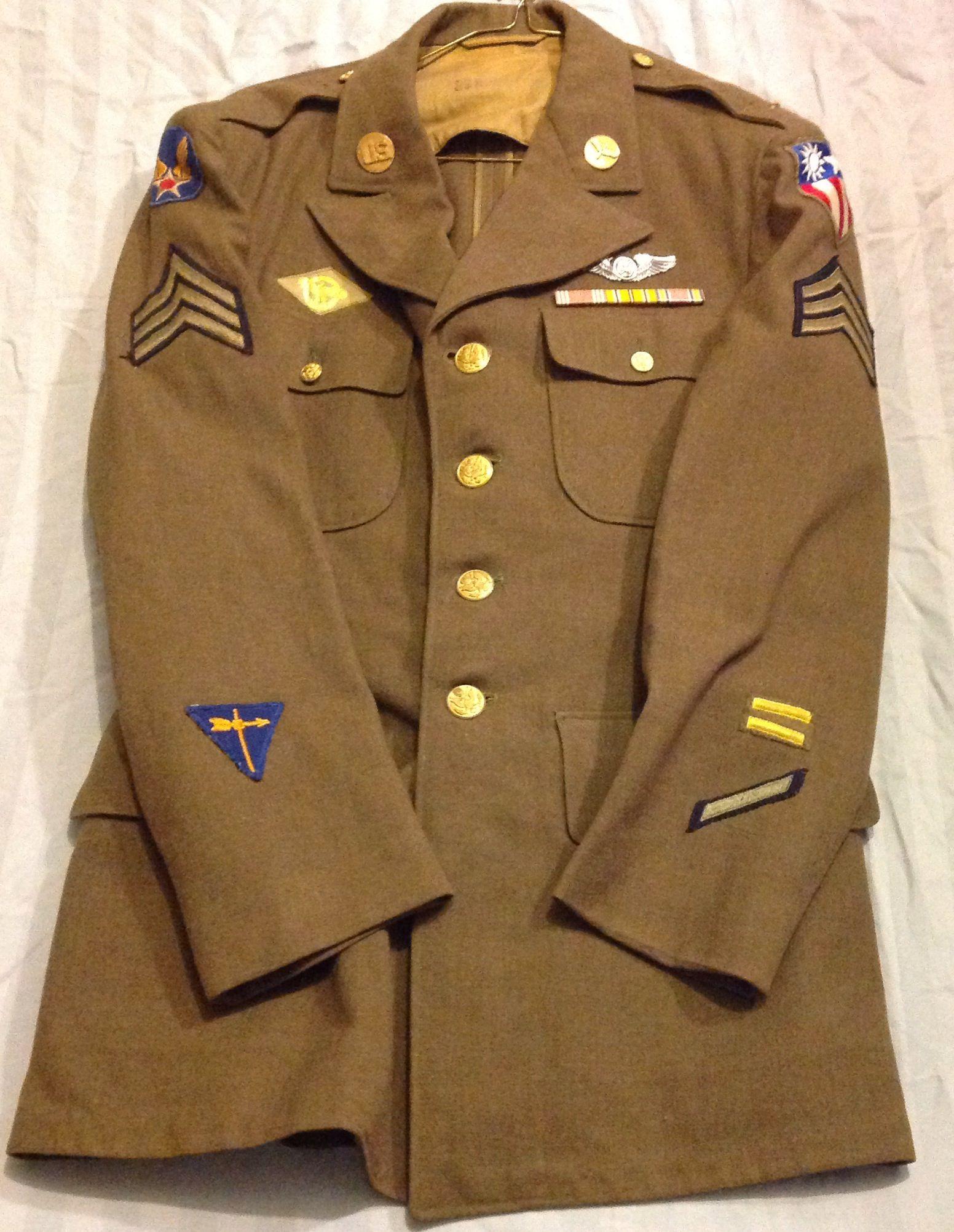 US M1939 Coat, Service, EM army air force, chinaburma