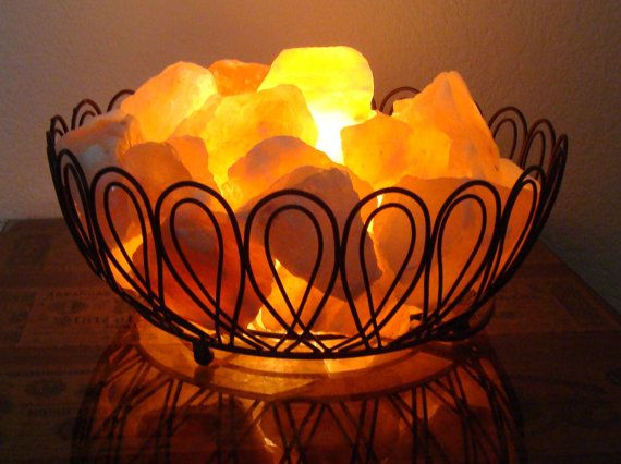 Salt Rock Lamp Walmart Mesmerizing Himalayan Salt Lamp Basket  Himalayan Salt Himalayan And Feng Shui Inspiration