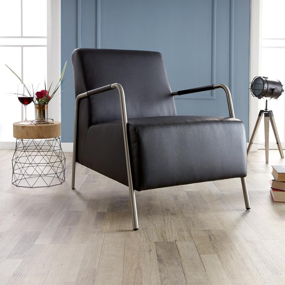 Moderner Loungestuhl Im Zeitlosen Schwarz Preiswert Danisches Bettenlager Lounge Sessel Lounge Stuhl Lounge
