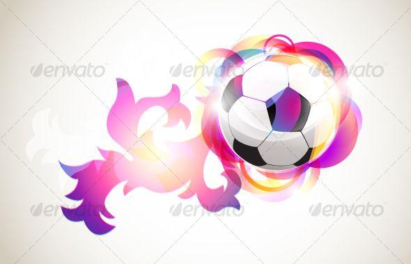 Absract Football Banner Fonts Logos Icons Football