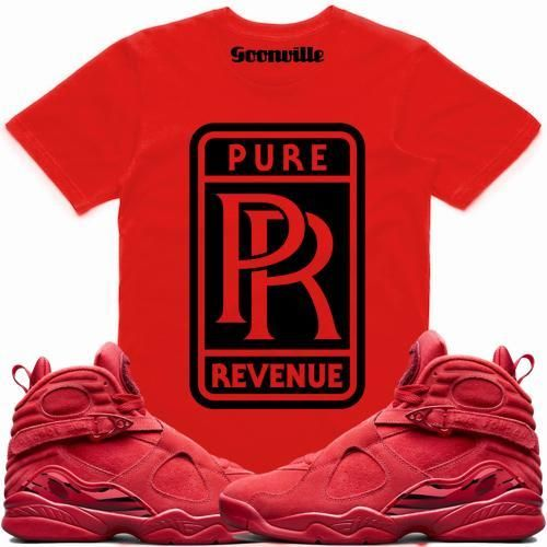 c579723826ae PURE REVENUE Sneaker Tees Shirt - Jordan 8 Valentines. Sneaker Tee Shirt to  match made by Dapper Goons ...