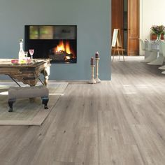 Bring The Outdoors Into Your Home Or Office With Quickstep Impressive Sawcut Oak Grey Laminate