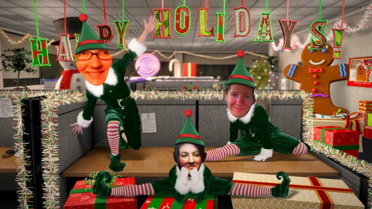 Courtney canfield emily gulliford christmas elf