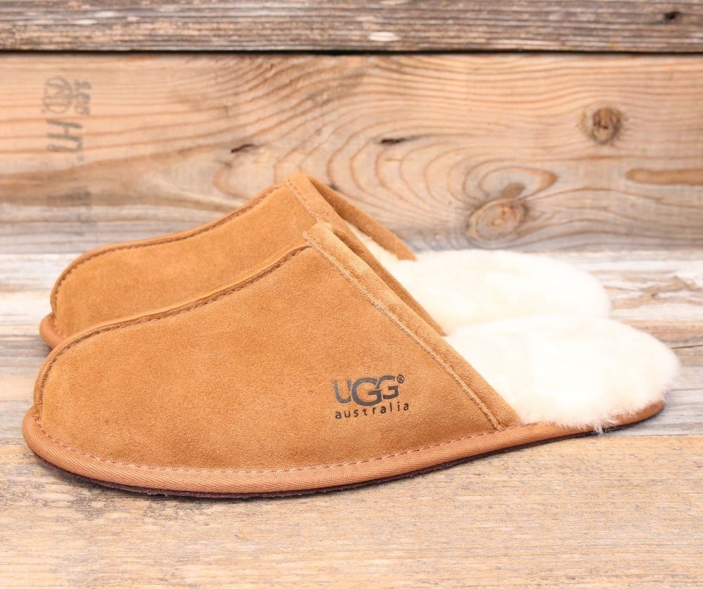 UGG Australia Mens Scuff Chestnut Classic Sheepskin Slippers US 10 UK 9 EU 43 #UGGAustralia #MoccasinSlippers