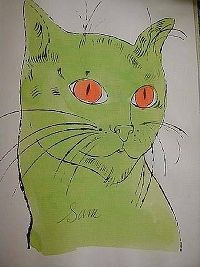 Andy Warhol - 'Sam the Cat ' : 네이버 블로그
