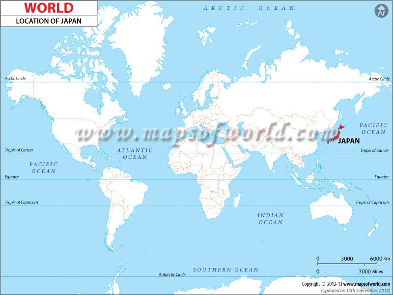 Japan #Location #Map shows where is Japan presence in the ...