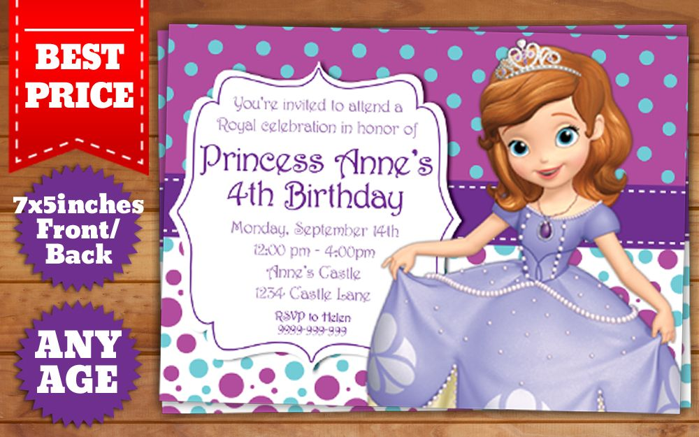 This Instant Downloadable is for a Sofia the First Birthday ...