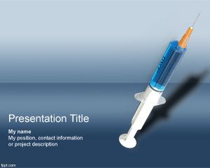 Free dose powerpoint template with syringe in the background this free dose powerpoint background is a free medical design for powerpoint presentations that you can use as a free dose template for powerpoint toneelgroepblik Images