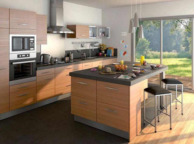 Cuisine Lapeyre Nos Modeles De Cuisine Preferes Elle Decoration Ilot Cuisine Meuble Cuisine Cuisine Lapeyre