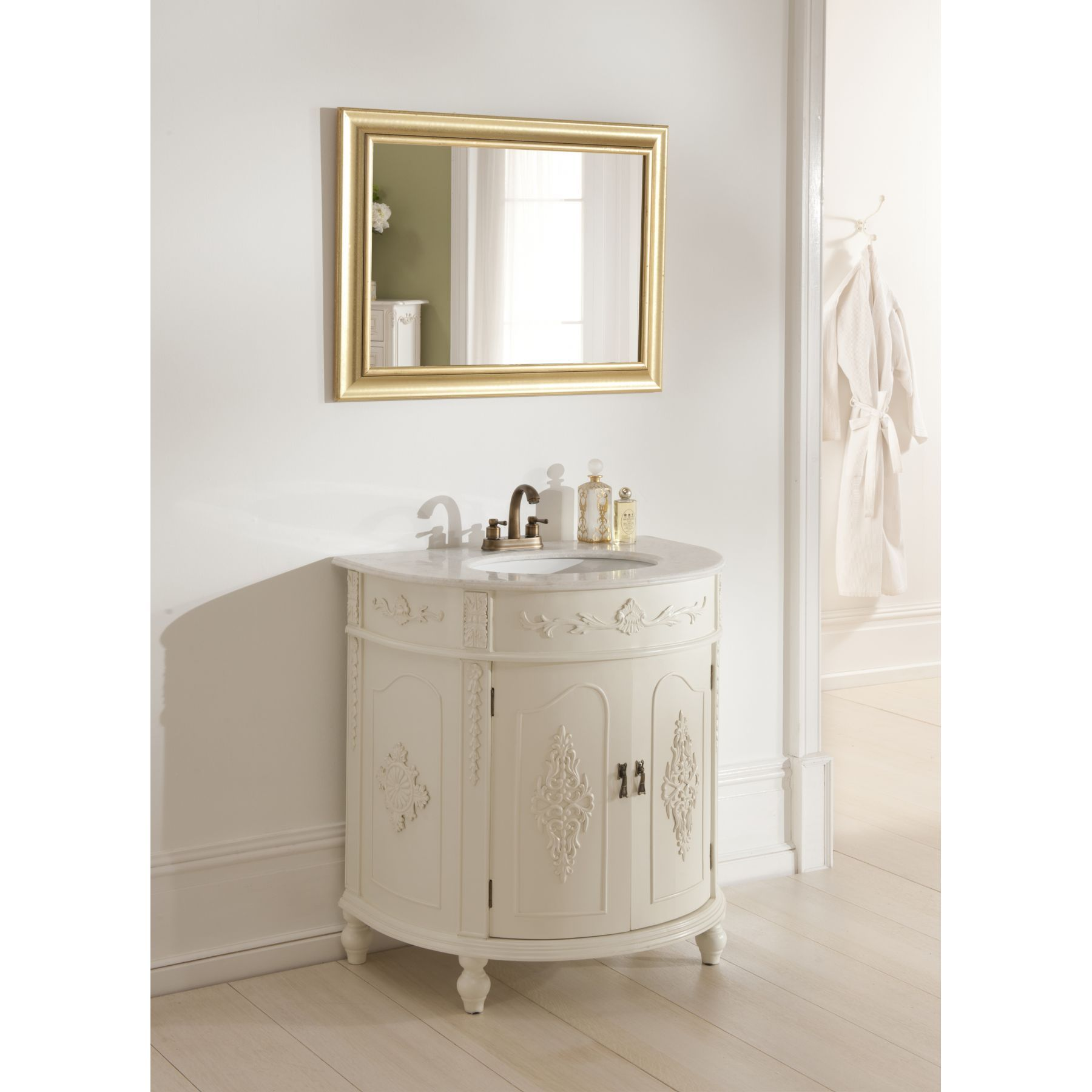 Antique french style vanity unit bathroom basin for French shabby chic bathroom ideas