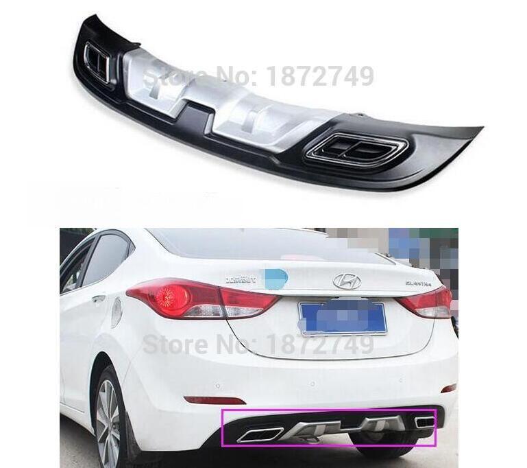For Hyundai Elantra 2014 2015 For Hyundai High Quality Abs Rear Bumper Lip Auto Car Diffuser Hyundai Elantra Car Diffuser Elantra