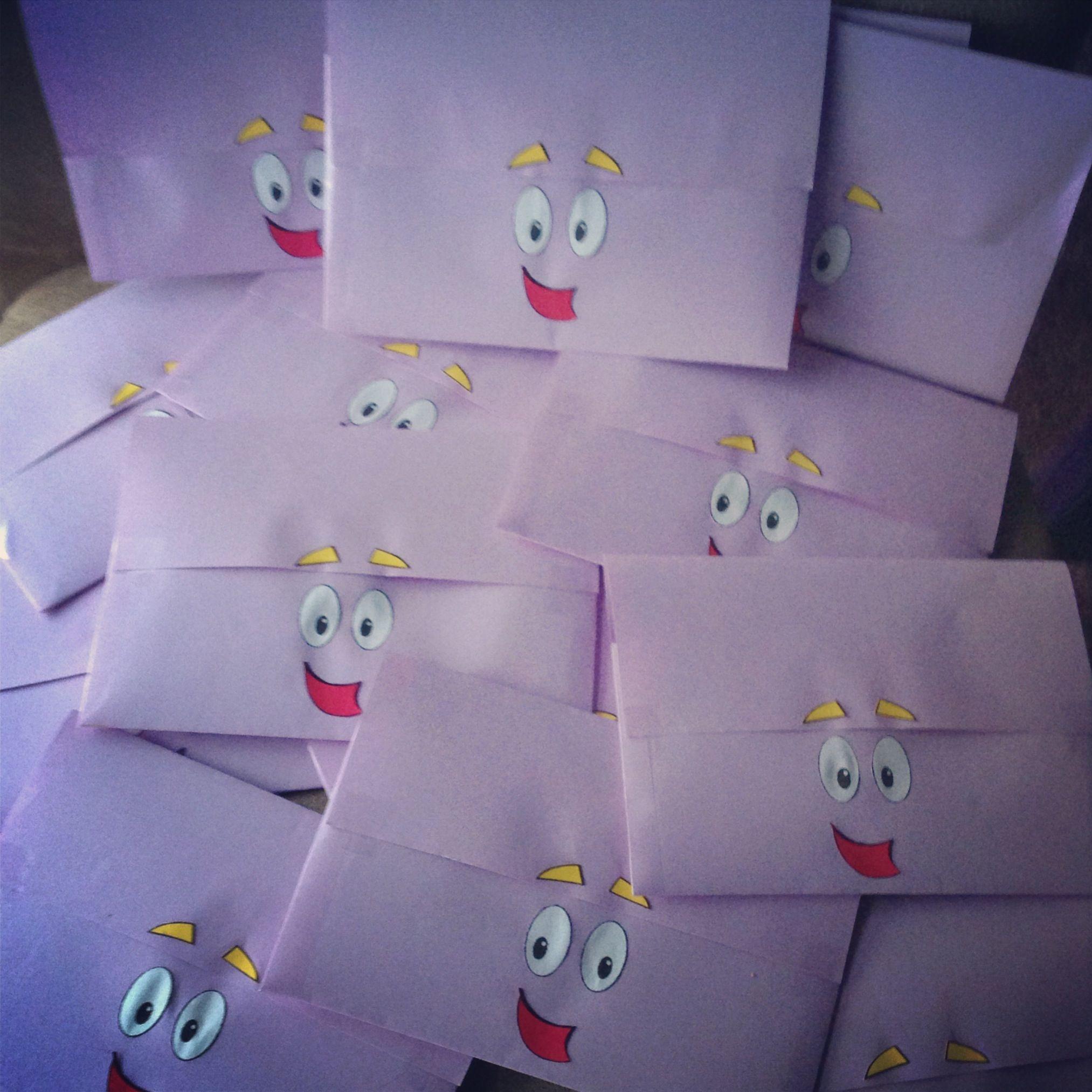 Invitaciones de cumpleaños para una fiesta de Dora, la Exploradora ...