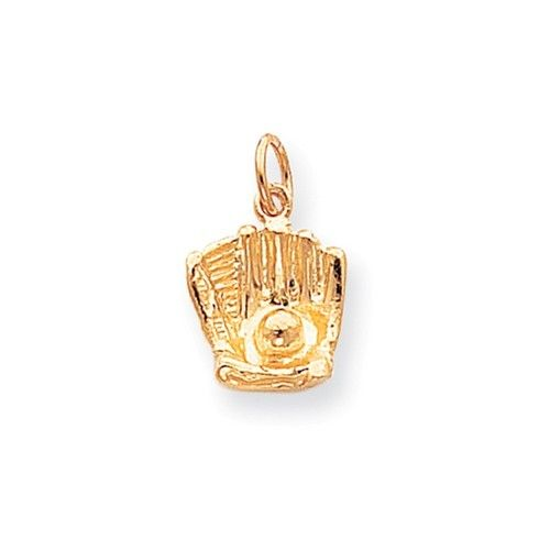 10k Yellow Gold Baseball Charm Pendant Gold Yellow Pendants