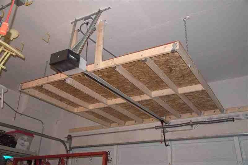 Delicieux Hanging Garage Shelves