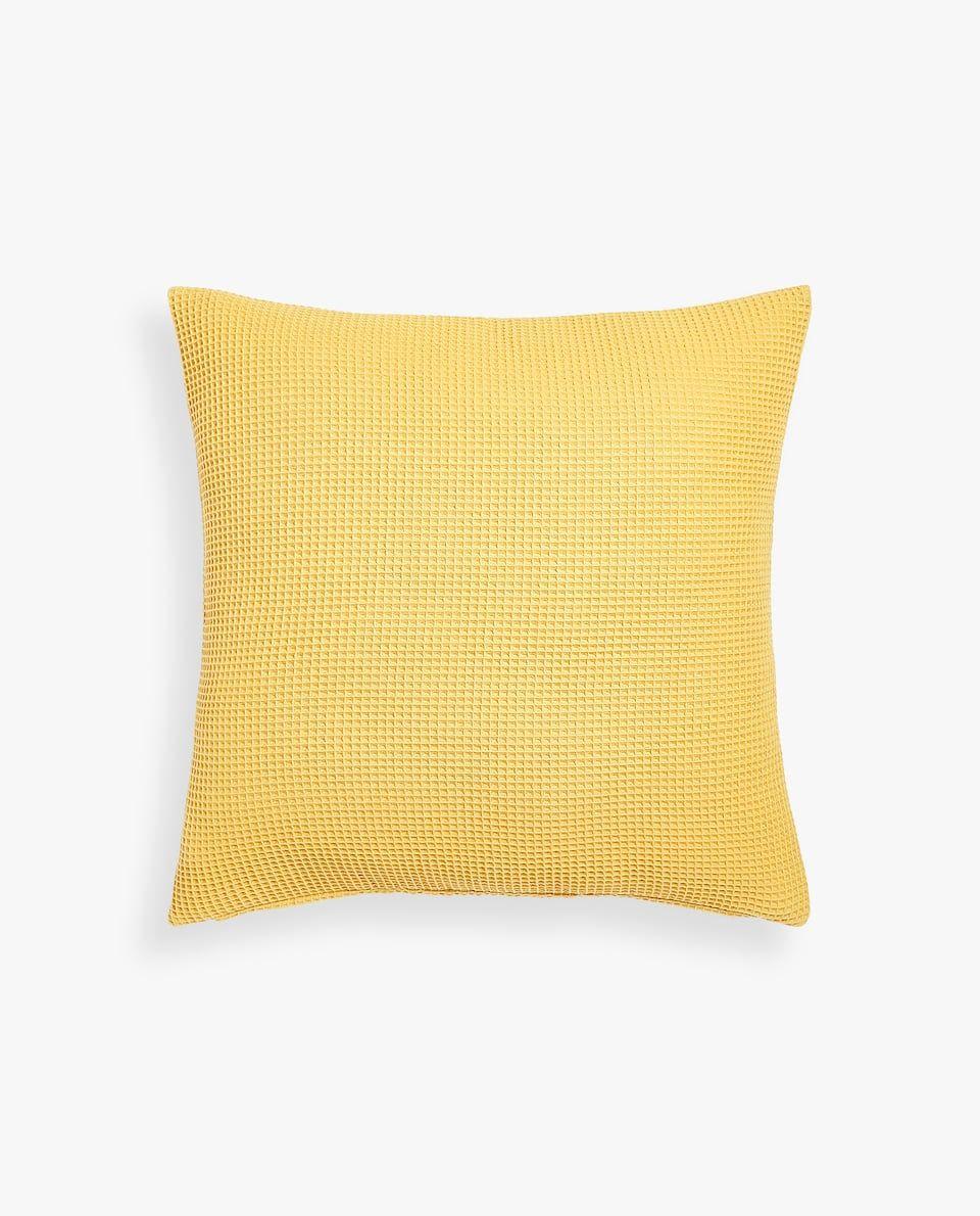 Waffle Effect Cushion Cover Cushions Bedroom Zara Home United Kingdom