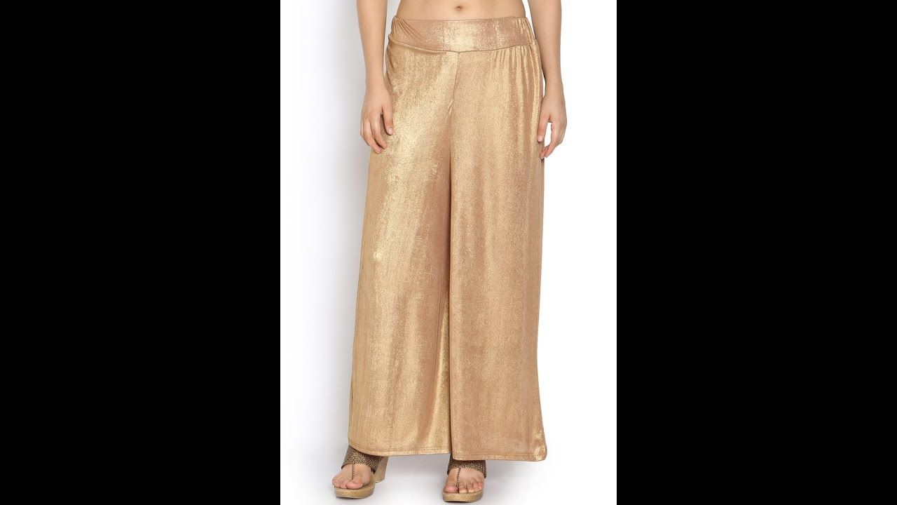 Stylish Palazzo Pants Draft And Complete Making Reuse Old