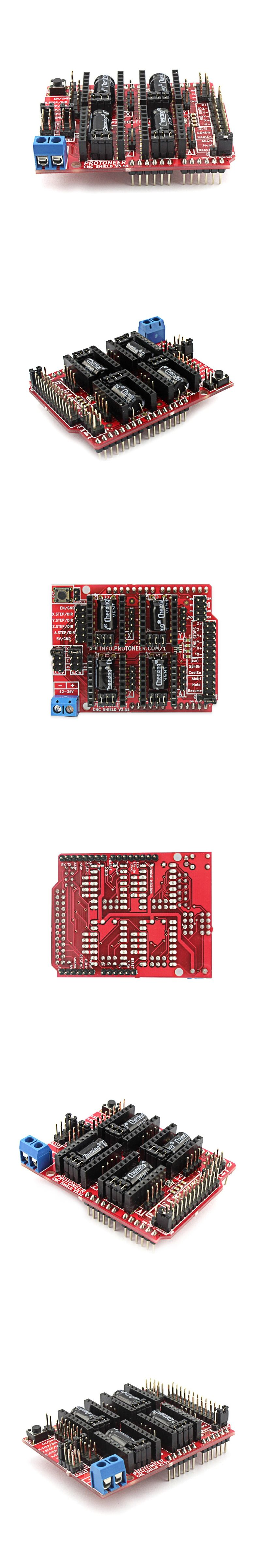 Elecrow New Development Board Cnc Shield V351 For Arduino 3d Aliexpresscom Buy 37v Pcb Circuit Battery Protection Printer Micro Controllers Grbl