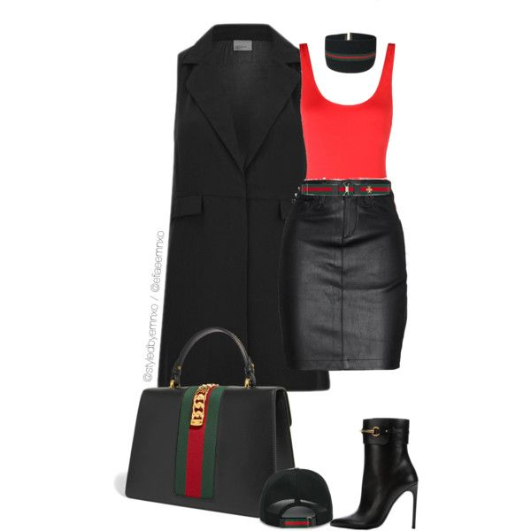 A fashion look from May 2017 by efiaeemnxo featuring Vero Moda, rag & bone/JEAN, Solid & Striped, Gucci, polyvoreeditorial, sbemnxo and styledbyemnxo