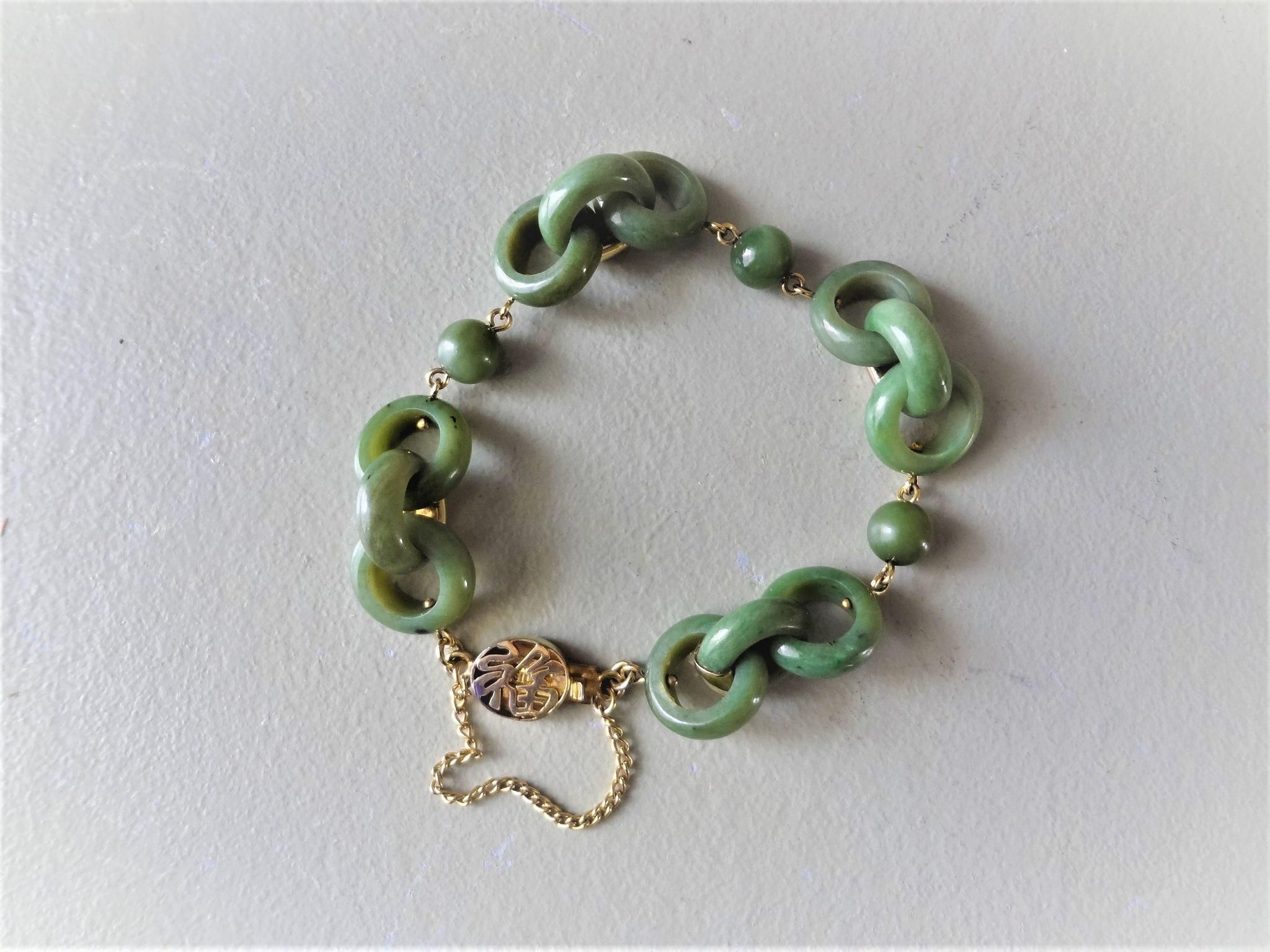 pin symbol jade plated bling gold jewelry peridot luck good bracelet chinese green