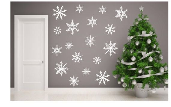 Snowflakes wall decals. Christmas Wall Decal. Winter by AMMDecals