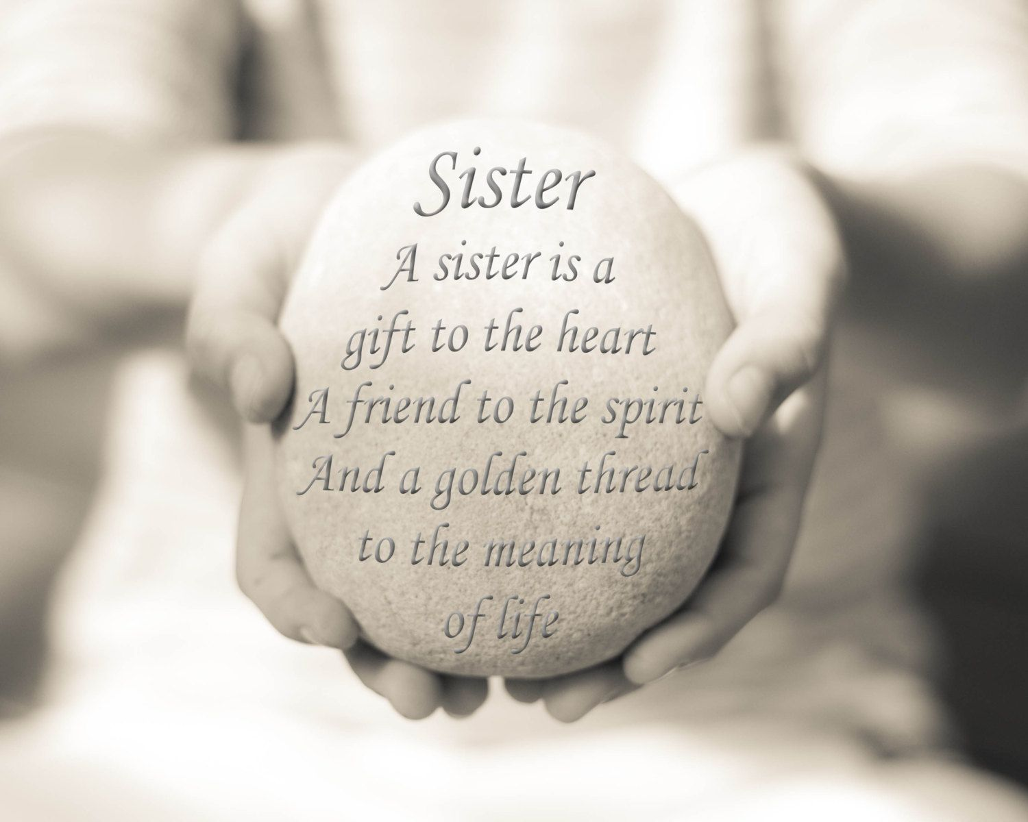 Sister Quote Sister Quote Print Sister by OceanDrop graphy $19 00