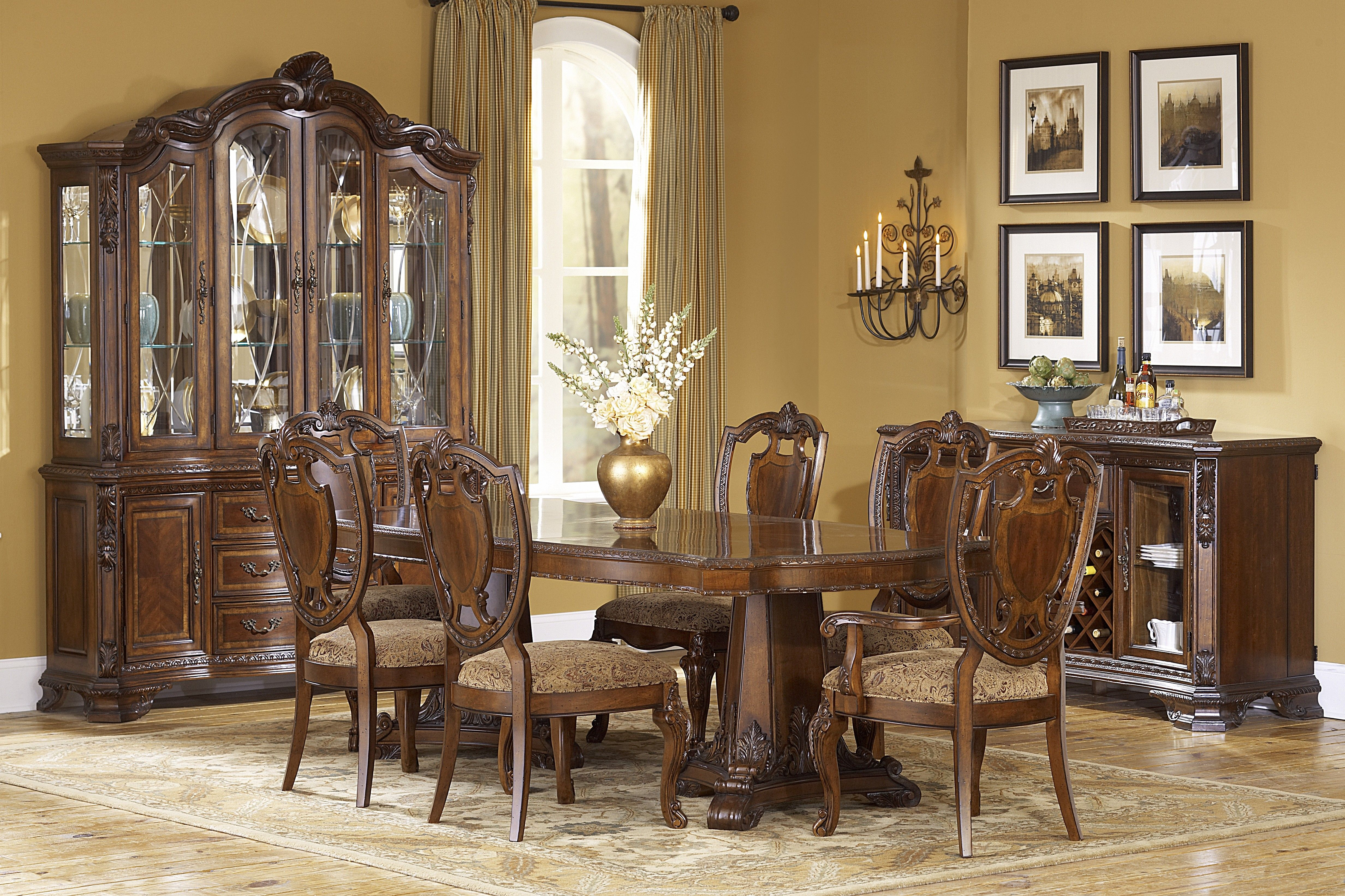 Old World Dining Room Chairs  Best Spray Paint For Wood Furniture Delectable Old Fashioned Dining Room Sets Design Ideas