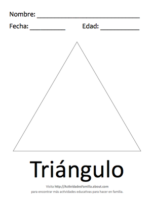 Figuras geométricas básicas para colorear: Triángulo | Figuras ...