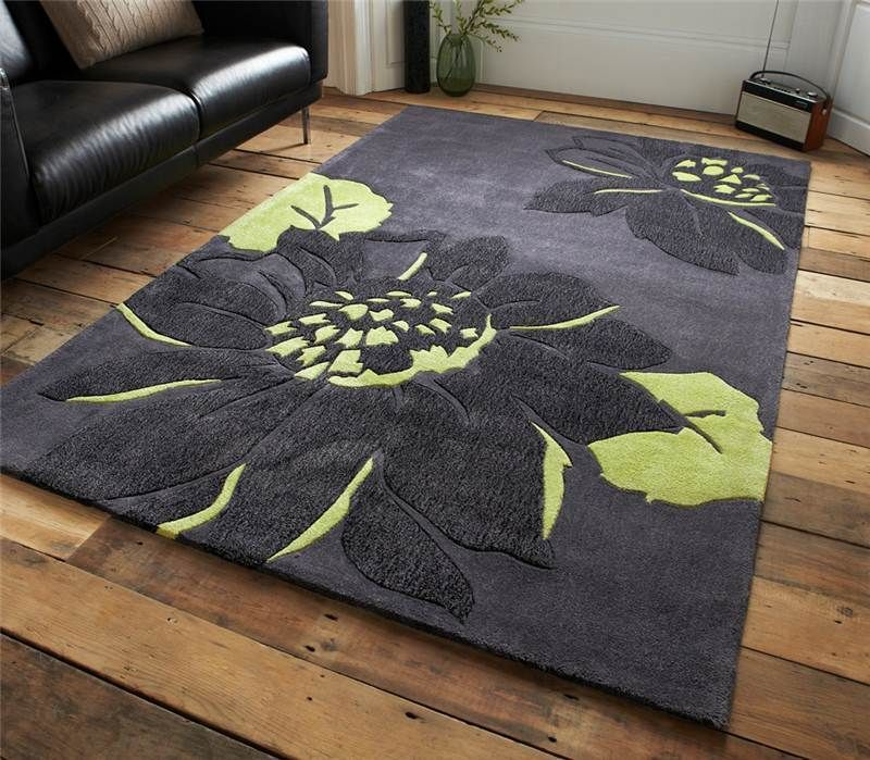 Excellent Le House Hj Grey Green Rug With Teal And Black Uk