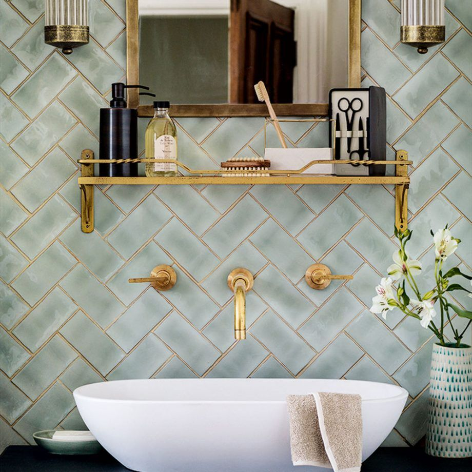 Feature Wall Ideas Make A Style Statement With Wallpaper Paint Tiles Nha Cửa Thiết Kế Vệ Sinh