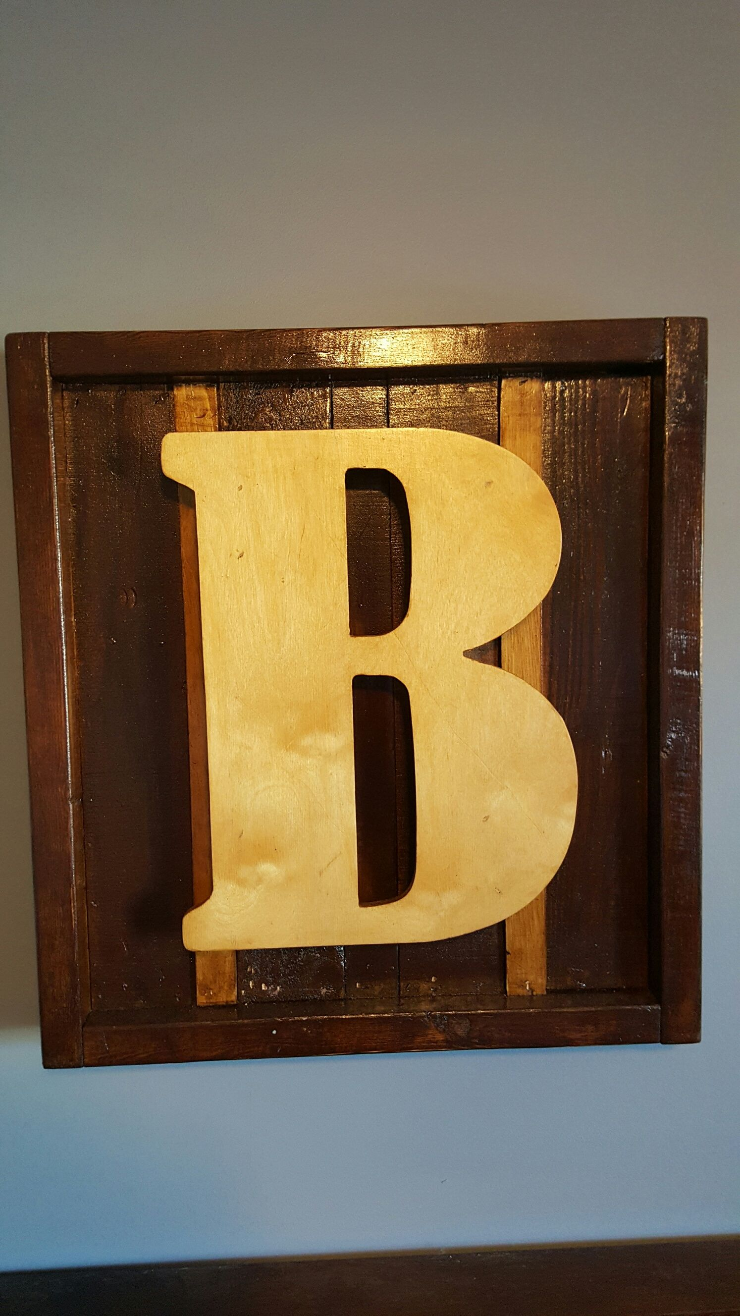 Lettered Pallet Frame with initial $75.