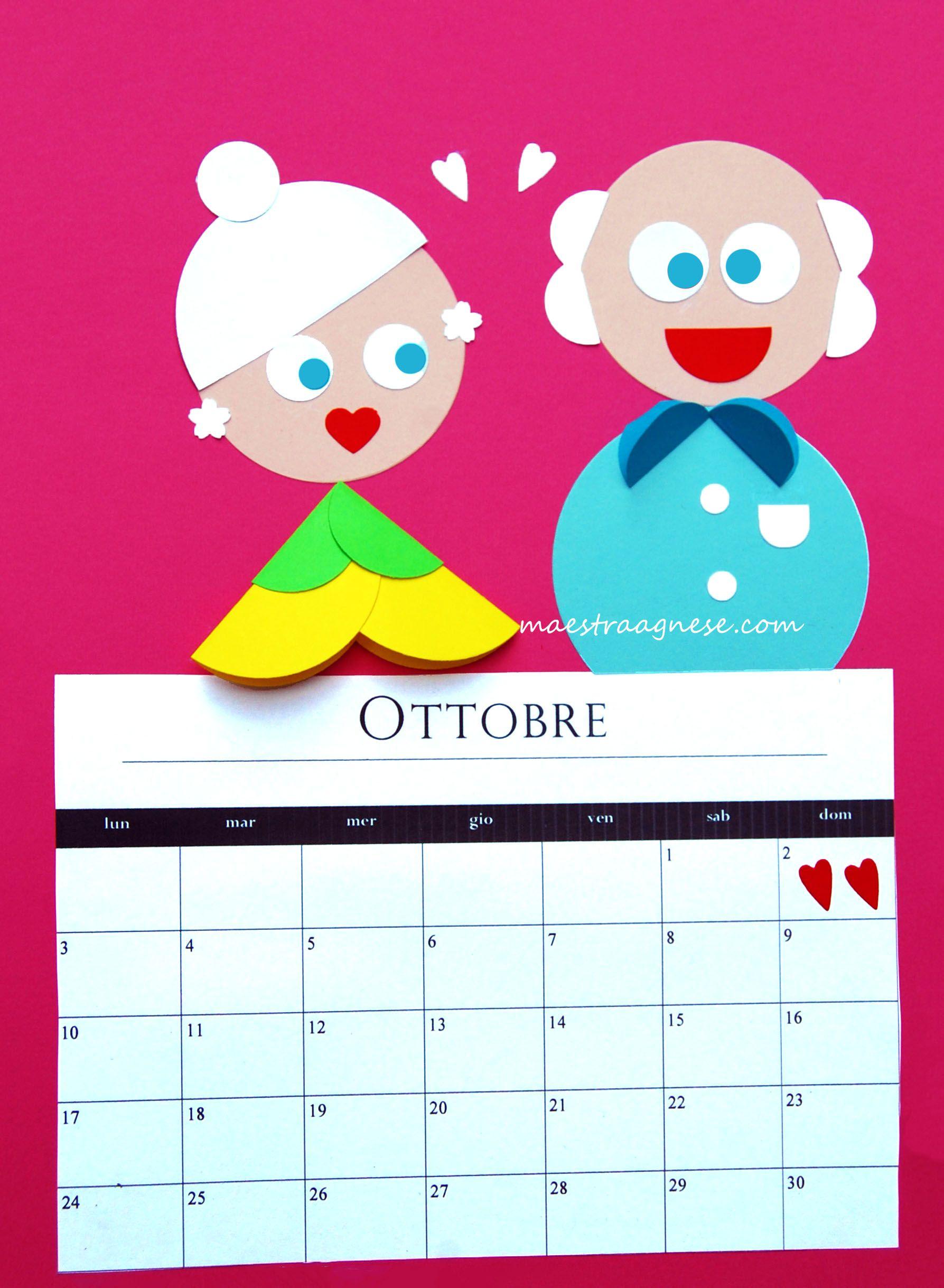 Calendario Festa Dei Nonni.Lavoretto Per La Festa Dei Nonni Lavoretti Per La Festa