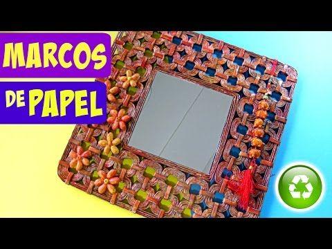 DIY: Cómo hacer marcos para fotos o espejo. Picture frame or mirror ...