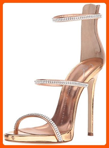 b28f606458207 Giuseppe Zanotti Women's E70119 Dress Sandal, Rose Gold, 7.5 M US ...