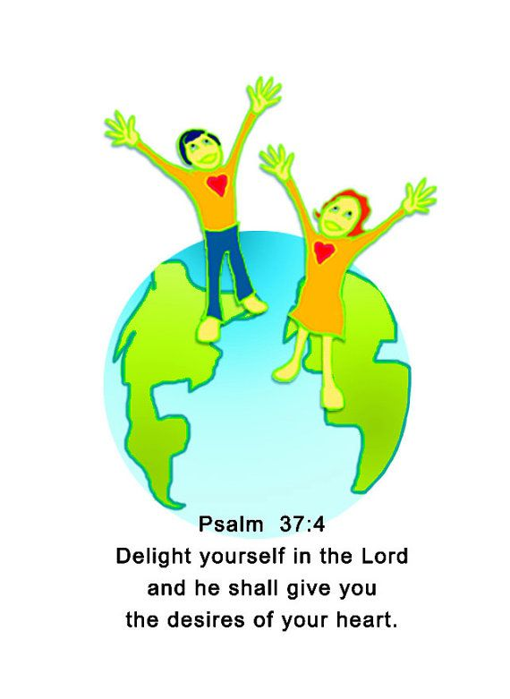 Psalm 37.4 5X4.5 gift card set of 8 with envelopes by GiovannaBC, $7.00