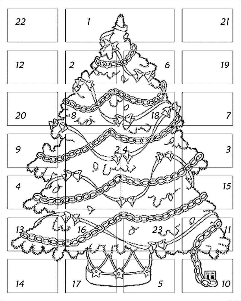 Calendario Dellavvento Da Stampare Per Bambini.Calendari Dell Avvento Da Stampare Calendario Dell Avvento