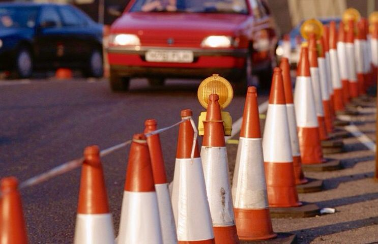 safety cones row of traffic cones traffic cones pinterest