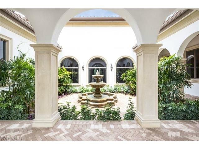 4653 Idylwood Ln, Naples, FL 34119 | Courtyard with fountain in ...