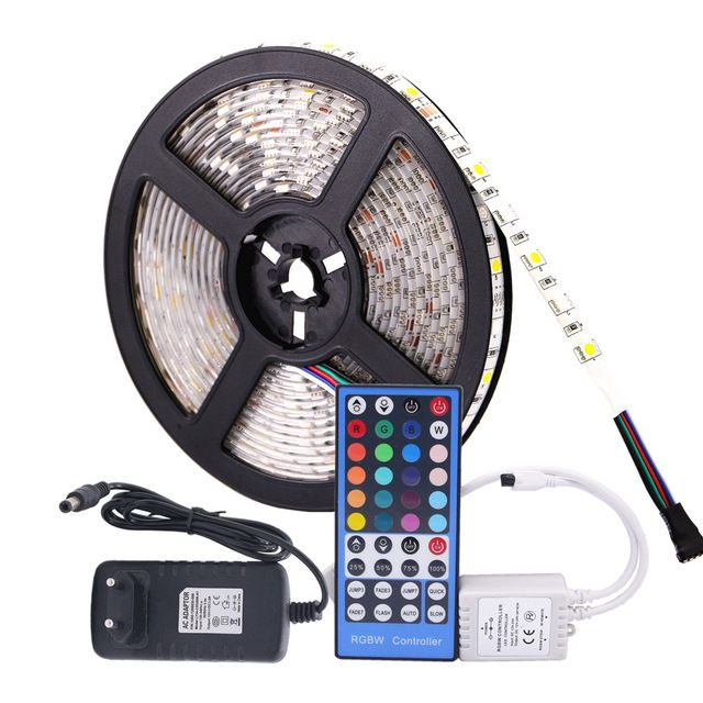 Led Light Strips With Remote Eilai Smd 5050 Rgb Led Strip Waterproof Dc 12V 5M 300Led Rgbw Rgbww