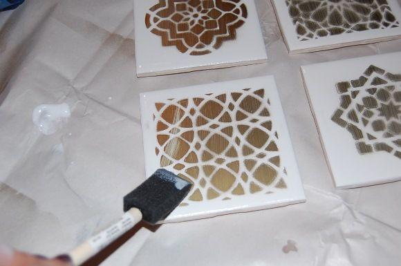 Diy Decor Moroccan Tile Coasters Step 6
