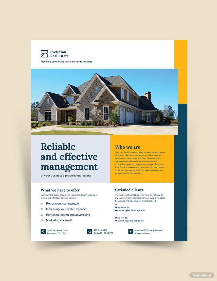 Property Management Marketing Flyer Property Management